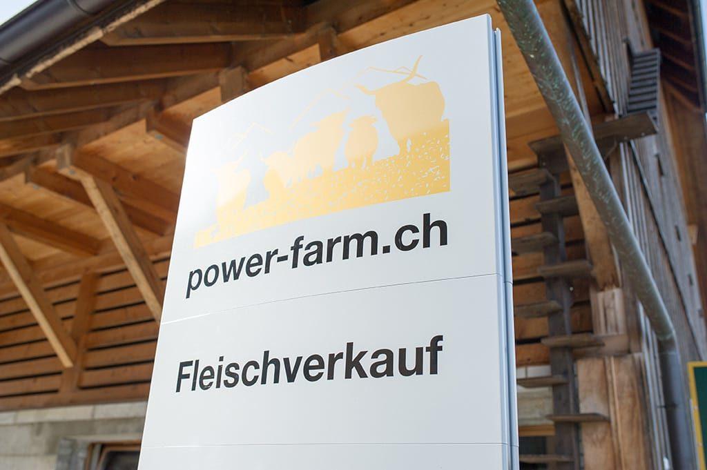 Der Hofladen auf der power-farm in Lyssach.
