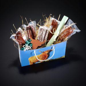 Geschenktasche Hochlandrind gross, mit verschiedenen Hochlandrinder-Spezialitäten
